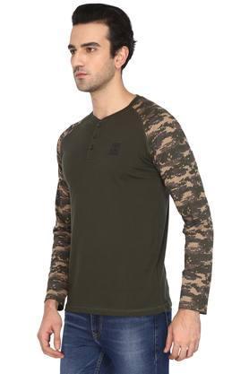 Mens Solid Casual T-Shirt