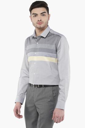 Mens Regular Collar Stripe Shirt