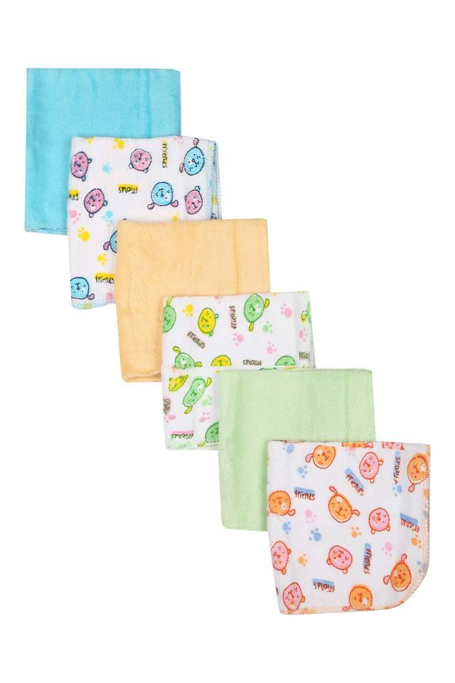 Unisex Solid and Printed Napkins Pack of 6