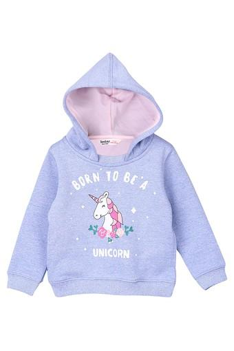 Girls Hooded Slub Sweatshirt