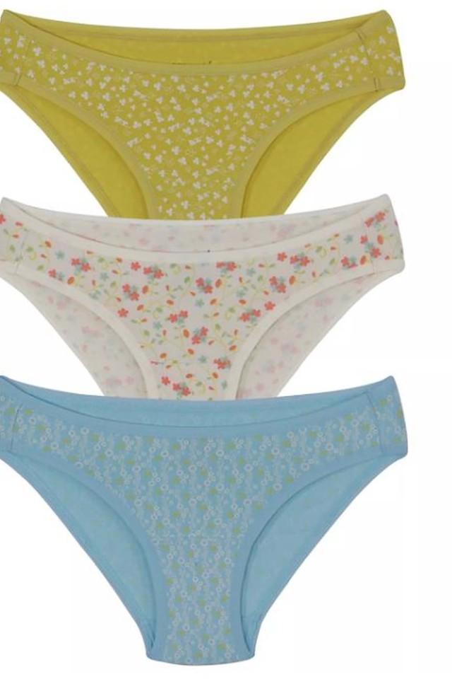 Womens Printed Bikini Briefs Pack of 3