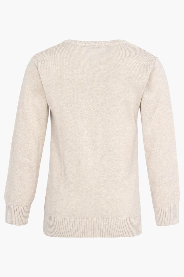 Boys V Neck Slub Sweater