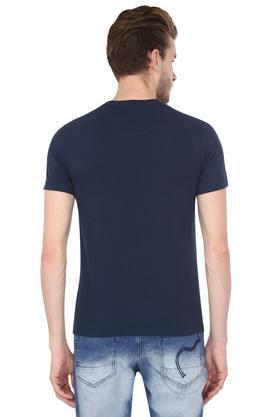 Mens Snug Fit Round Neck Printed T-Shirt