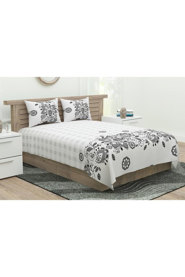 Printed Double Bed Sheet with Pillow Cover