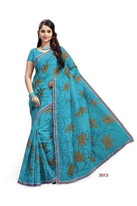 ASHIKAWomens Printed Saree With Blouse Piece - 204577032_9306