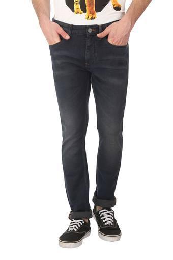 Mens 5 Pocket Whiskered Effect Jeans (Albert Fit)