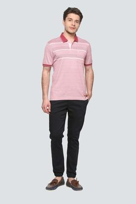 Mens Comfort Fit Printed Polo T-Shirt