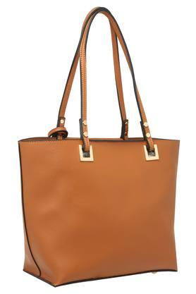 Womens Zip Closure Tote Handbag with Pouch