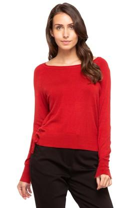 COVER STORYWomens Round Neck Solid Sweater