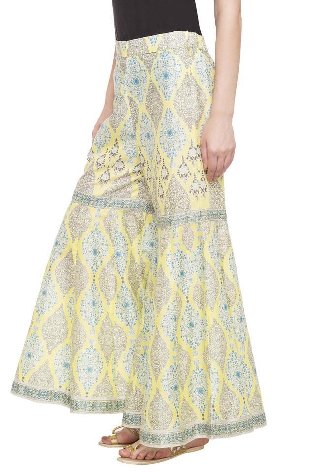 Womens Printed Sharara Pants