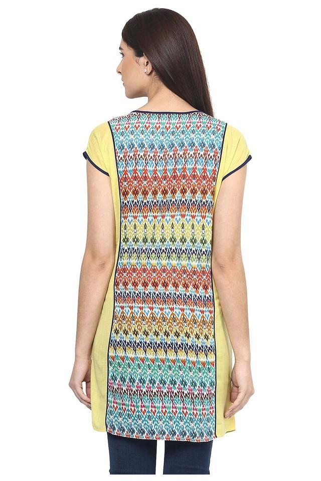 Womens Round Neck Printed Tunic