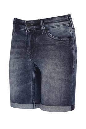 Boys 5 Pocket Distressed Shorts