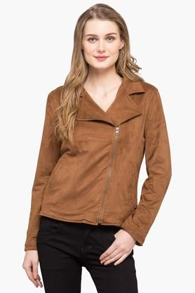 U.S. POLO ASSN. Womens Collared Solid Jacket