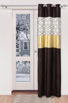 Dupion Printed Embellished Door Curtain