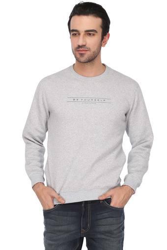 STOP -  Grey MelangeSweatshirts - Main