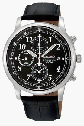 Mens Sports Chronograph Black Dial Watch - SNDC31P1