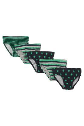 Boys Printed and Stripe Briefs Pack of 5