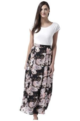 THE VANCAWomens Floral Print Skirt