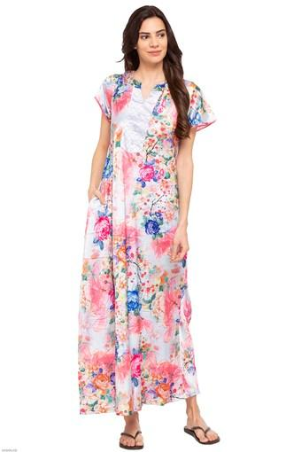 a9e9ff3fc Buy SWEET DREAMS Womens Notched Collar Printed Night Dress ...