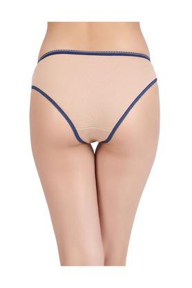 Womens Low Waist Solid Bikini Briefs - Pack of 2