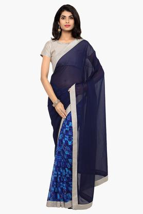 DEMARCA Womens Faux Georgette Printed Saree - 203231062