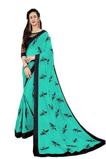 Womens Embroidered Saree