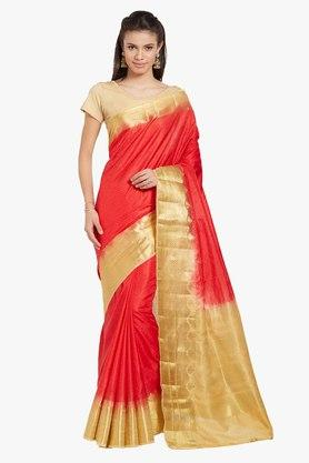 JASHN Womens Zari Woven Art Silk Saree