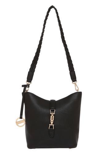 Buy U.S. POLO ASSN. Womens Metallic Lock Closure Sling Bag ... 1886932e1e