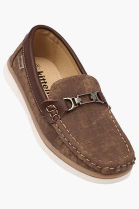 Boys Leather Slipon Loafers