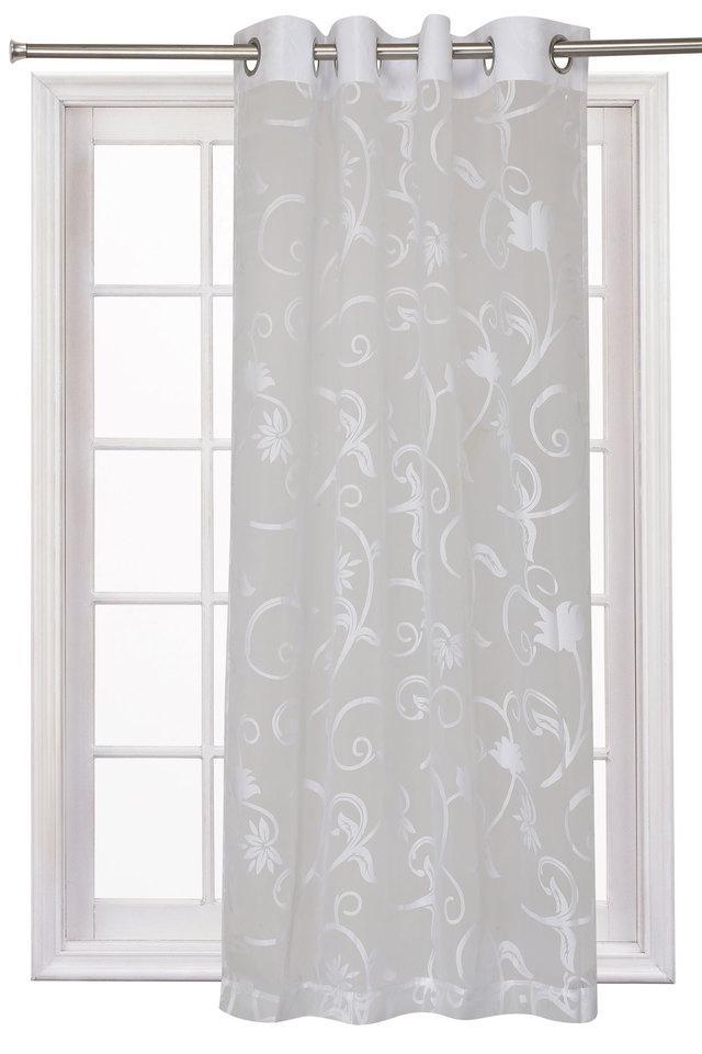 Lydia Sheer Self Printed Window Curtain