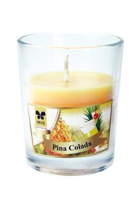 IRISRound Glass Pina Colada Candle