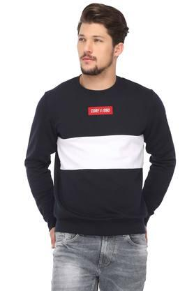 JACK AND JONES Mens Round Neck Colour Block Sweatshirt