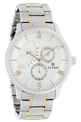 Mens Classique Retrogrades White Dial Multifunction Watch 90101KM01