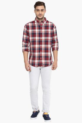 Mens Buttondown Collar Checks Shirt