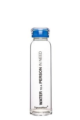SIGNORAWARE Round Glass Water Bottle With Cap - 390ml