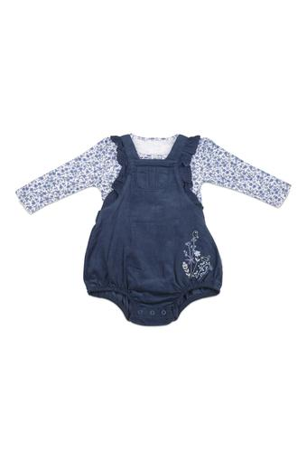 Infants Round Neck Printed Top, Shorts and Socks Set