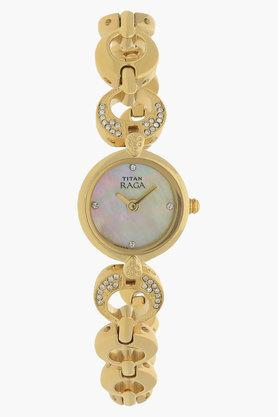 TITANWomens Mother Of Pearl Dial Analog Watch - NJ2444YM07