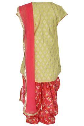 Girls Notched Neck Salwar Suit