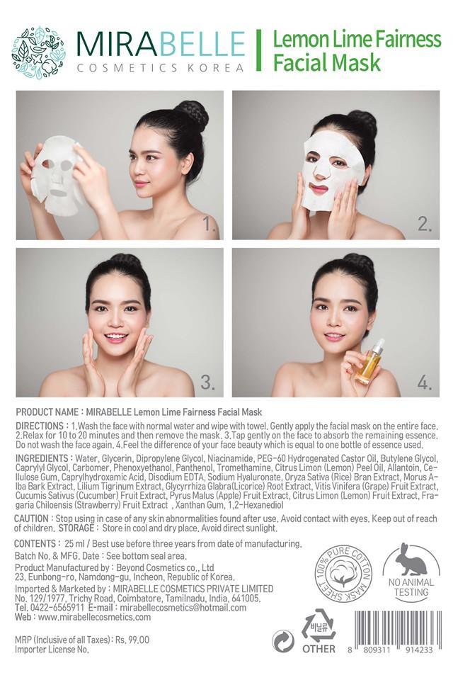 Lemon Lime Fairness Facial Mask