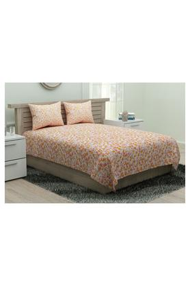 SPACES Calliarti Printed Single Bed Sheet With Pillow Cover