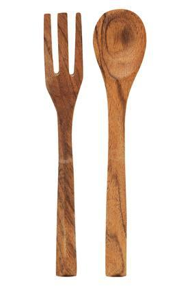BACK TO EARTH Wooden Spoon And Fork Set