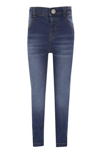 Kids 5 Pocket Whiskered Effect Jeans