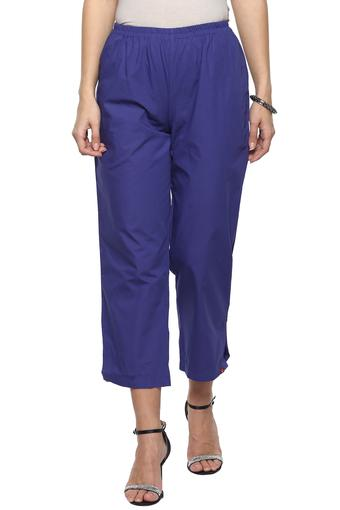 Womens Solid Ankle Length Pants