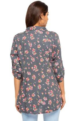 Womens Collared Printed Tunic