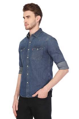 Mens 2 Pocket Washed Casual Shirt