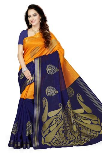 Womens Printed Bhagalpuri Art Silk Saree