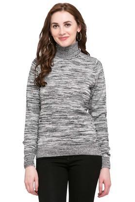 PEPEWomens Turtle Neck Slub Sweater
