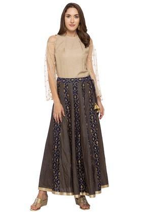Womens Printed Long Skirt