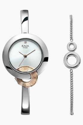 Raga Espana Silver Dial Metal Strap Watch - 95051KM02F