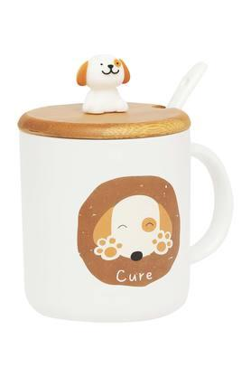 IVYDog Print Mug With Lid And Spoon